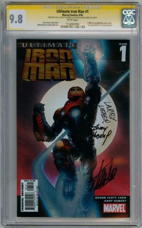 Ultimate Iron Man #1 Kubert Cover CGC 9.8 Signature Series Signed x3 Stan Lee Larry Lieber Marvel comic book